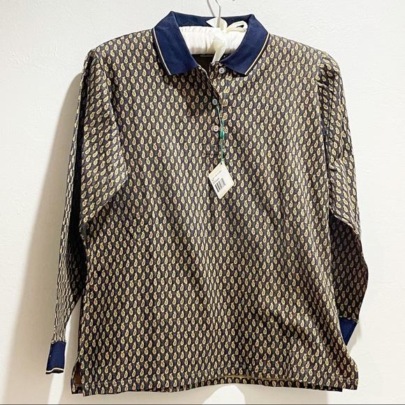 🏌️♀️ BOBBY JONES Knit Paisley Golf Polo Shirt